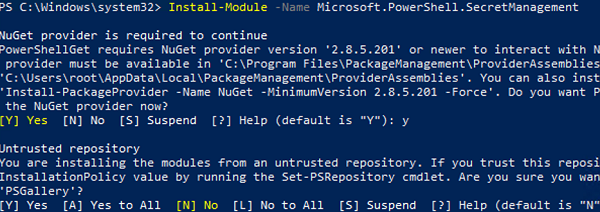 install Microsoft PowerShell.SecretManagement module