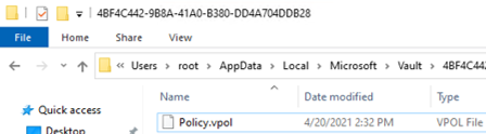 Policy.vpol - Windows Vault Policy File