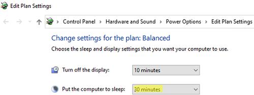 windows 10 - put the computer to sleep