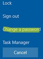 Change a password in RDP session via Ctrl+Alt+End