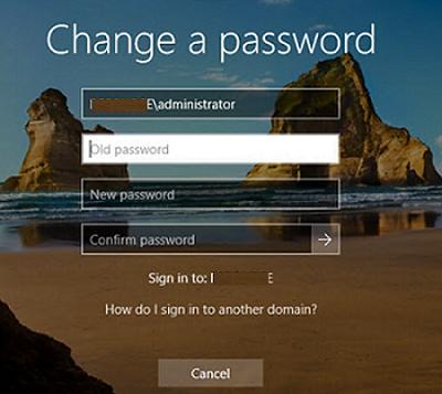 change user password in remote desktop