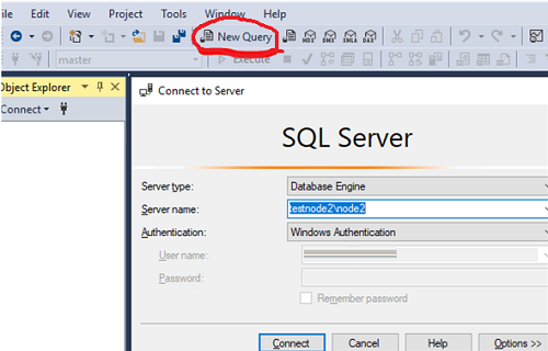 connect sqlserver in the single mode using Management Studio