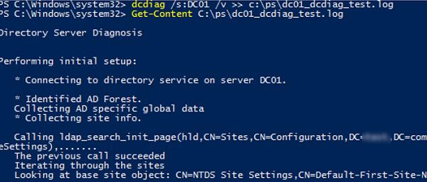 dcdiag log file