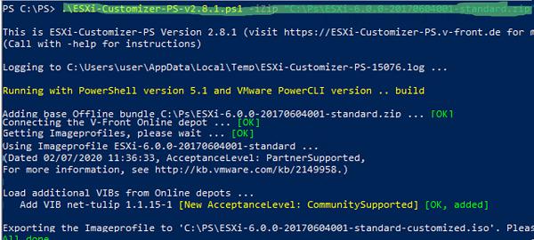 ESXi-Customizer-PS download esxi image load net-tulip