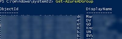 Get-AzureADGroup - list Azure Active Directory groups