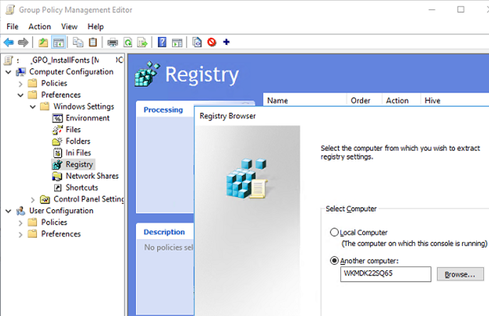 gpo remote registry browser