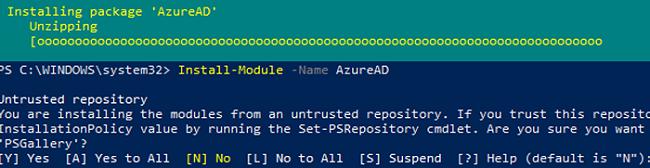Installing AzureAD PowerShell module on Windows