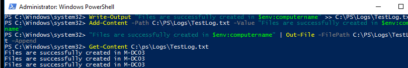 Log PowerShell output to a text file