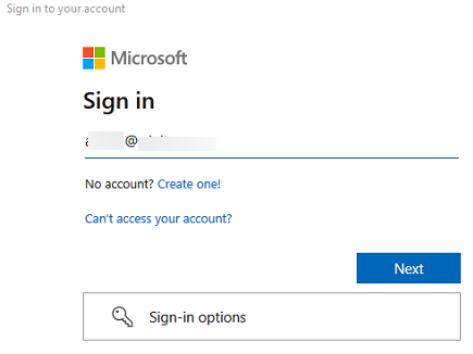 Modern Authentication sign-in prompt