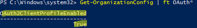 OAuth2ClientProfileEnabled - modern authentication (ADAL) is enabled for Microsoft 365 tenant