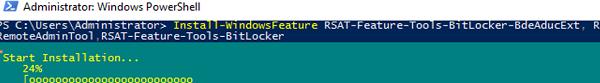 powershell install BitLocker Active Directory tools
