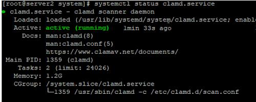 create clamd.service in linux centos/rhel